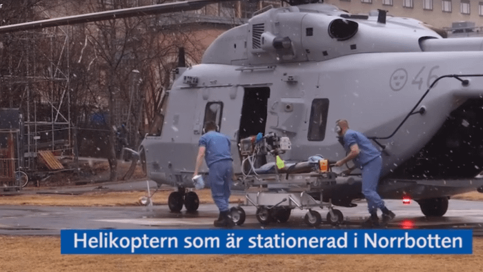 First Covid-19 patient transport with micus-aero installed on NH90