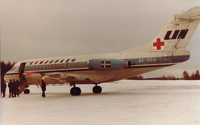 Flygtransport av 3000 patienter per dygn