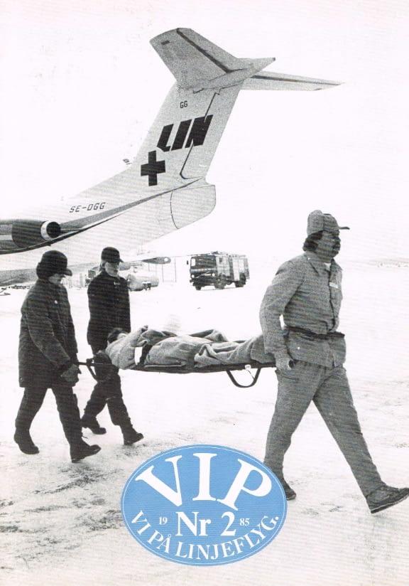 Linjeflygs personaltidning VIP, 1985 Nr 2