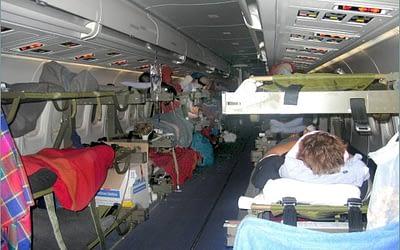 2004-12-31 – Besättningen berättar om flygningen hem